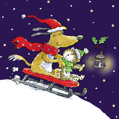 Sleigh ride charity Christmas cards - Parkinson's shop