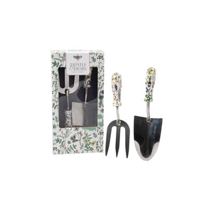 Thistle and thorn trowel and fork - Parkinson's shop