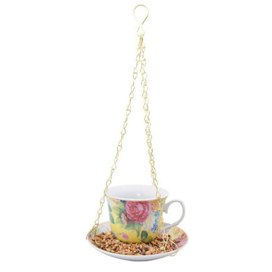 Hanging teacup bird feeder - Parkinson's shop