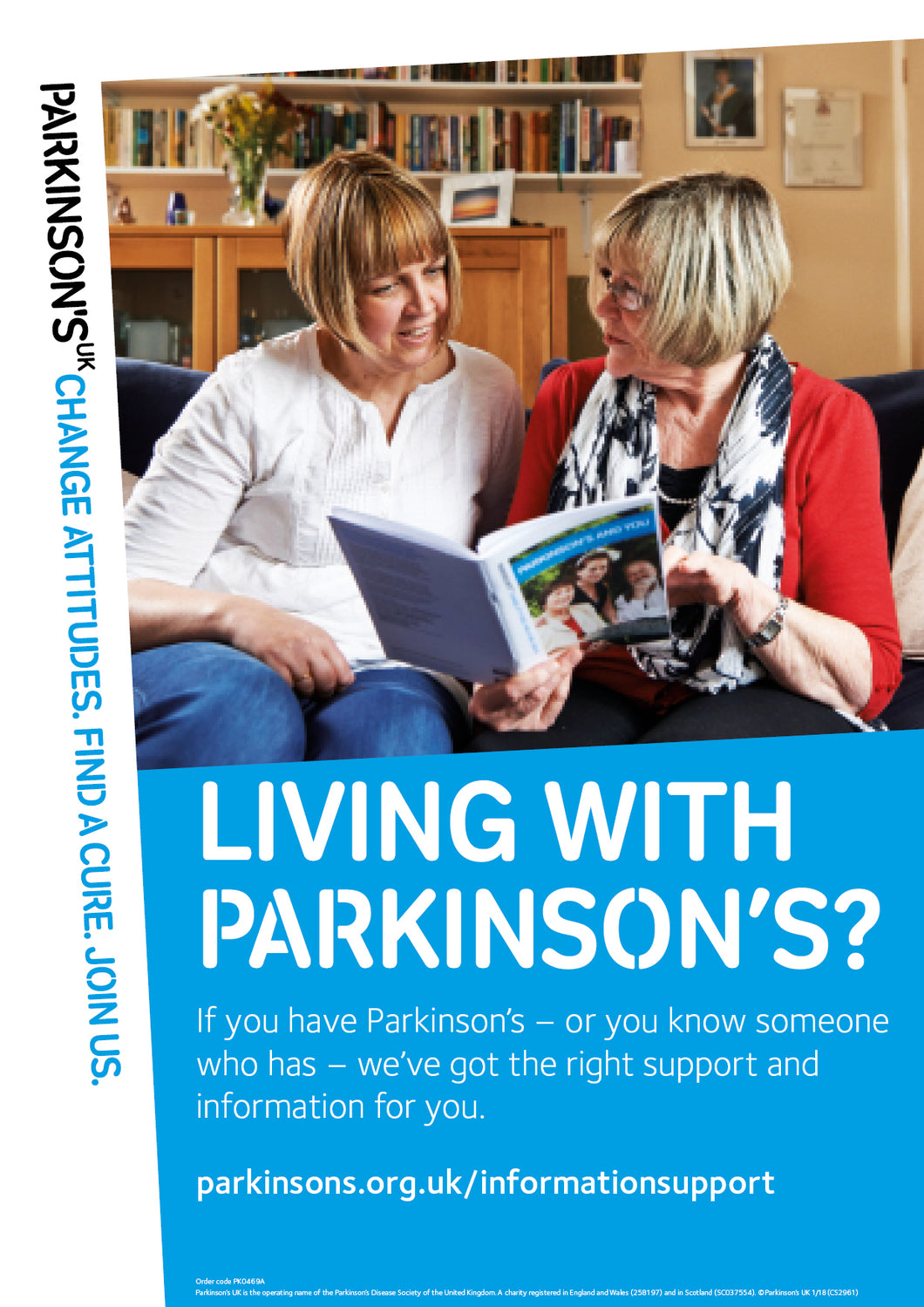 Information and support poster - Parkinson's shop