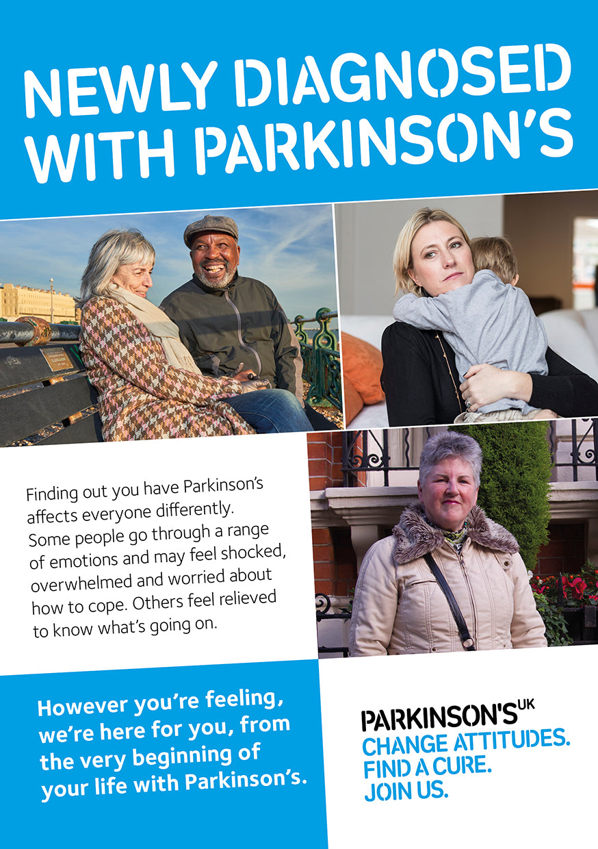 Signposting from diagnosis postcard - Parkinson's shop