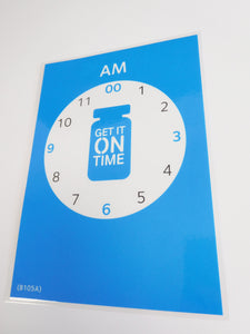 Get It On Time laminated clock flyer (A5) - Parkinson's shop