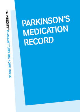Parkinson's medication record - Parkinson's shop