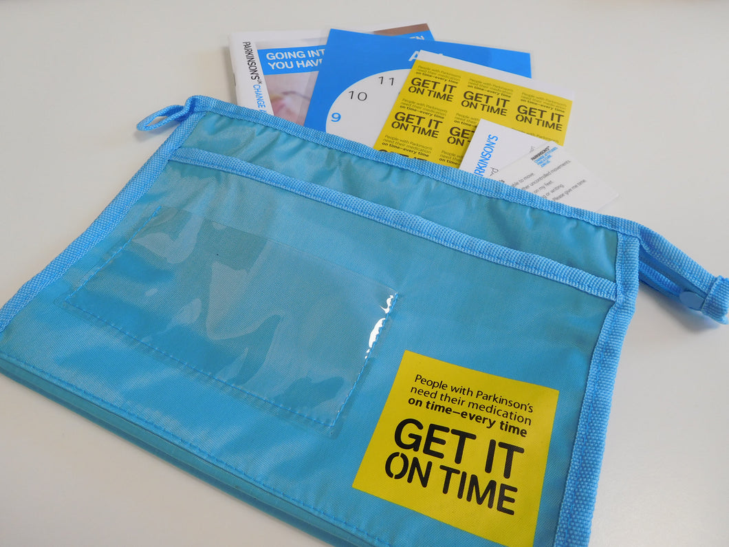 Get It On Time washbag - Parkinson's shop