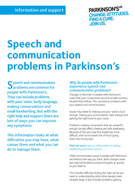 Speech and communication problems in Parkinson's
