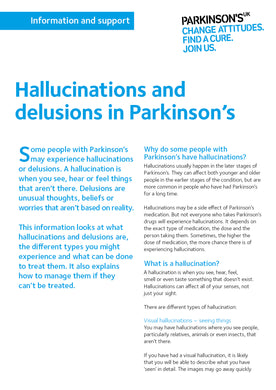 Hallucinations and delusions in Parkinson's - Parkinson's shop