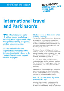 International travel and Parkinson's - Parkinson's shop