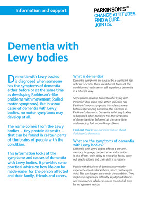 Dementia with Lewy bodies - Parkinson's shop