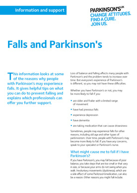 Falls and Parkinson's - Parkinson's shop