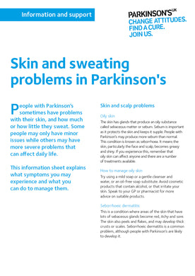 Skin and sweating problems in Parkinson's - Parkinson's shop
