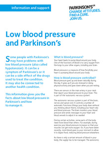 Low blood pressure and Parkinson's - Parkinson's shop