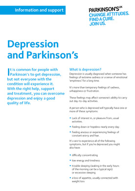 Depression and Parkinson's - Parkinson's shop
