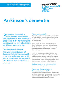 Parkinson's dementia - Parkinson's shop