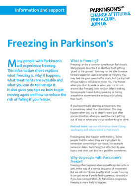 Freezing in Parkinson's - Parkinson's shop