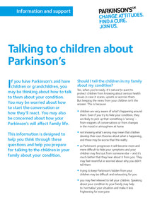 Talking to children about Parkinson's - Parkinson's shop