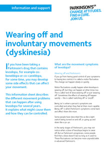 Wearing off and involuntary movements (dyskinesia) - Parkinson's shop