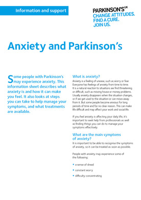 Anxiety and Parkinson's - Parkinson's shop