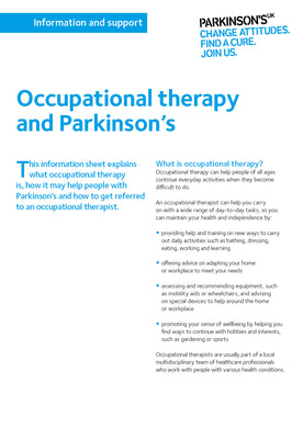 Occupational therapy and Parkinson's - Parkinson's shop