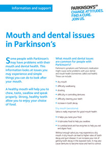 Mouth and dental issues in Parkinson's - Parkinson's shop