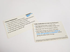 Parkinson's alert card - Parkinson's shop