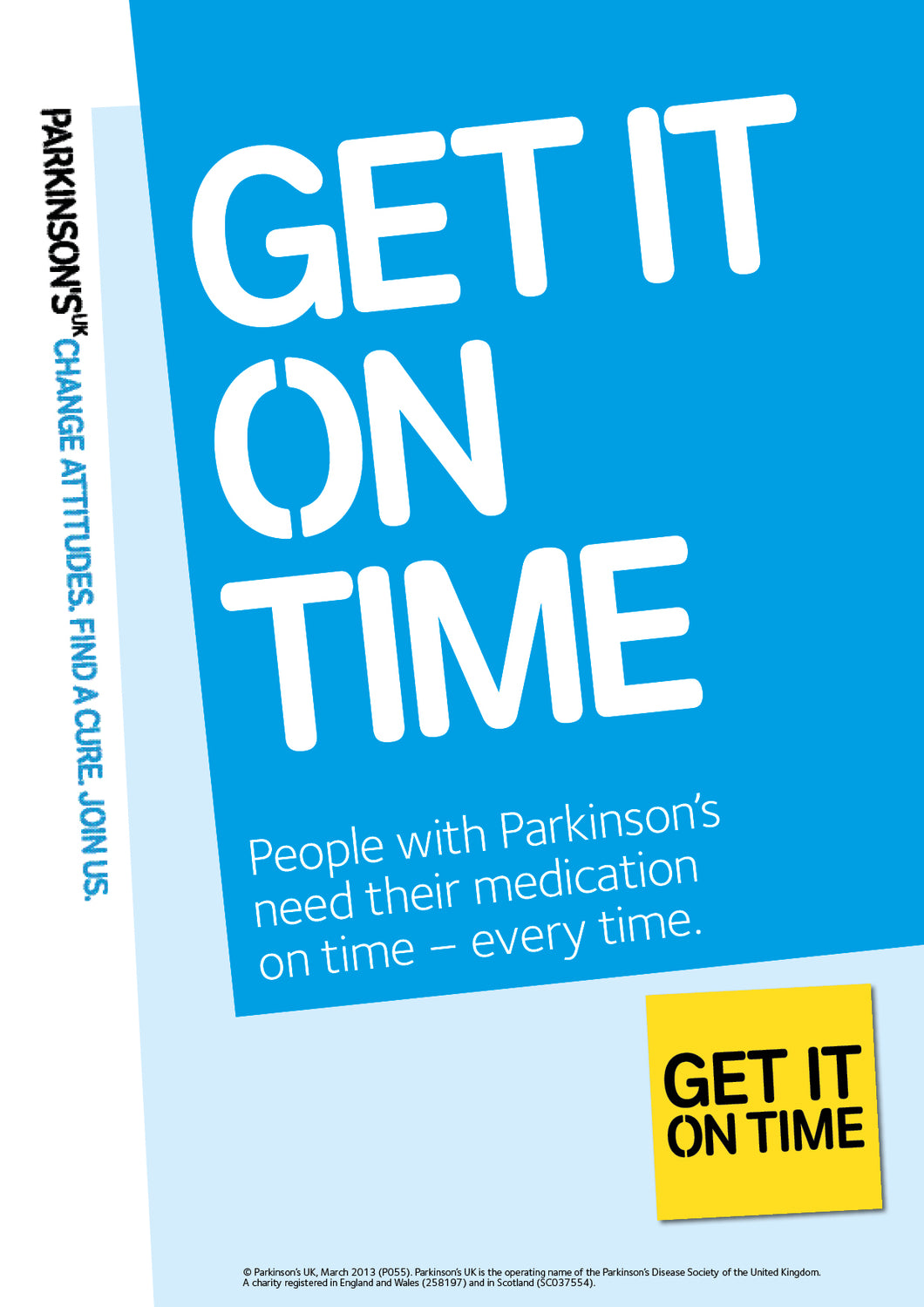 Get It On Time poster (A4) - Parkinson's shop