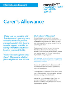 Carer's allowance - Parkinson's shop
