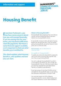 Housing Benefit - Parkinson's shop