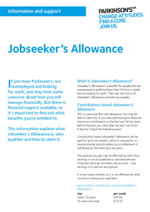 Jobseeker's Allowance - Parkinson's shop
