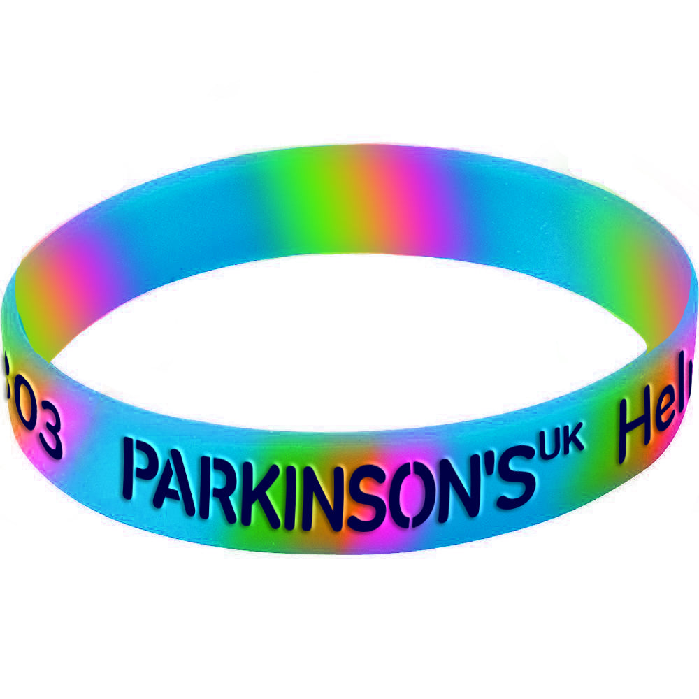 Parkinson's UK colourful wristband