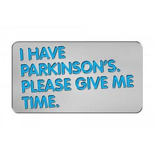 Parkinson's UK 'I have Parkinson's' badge - Parkinson's shop