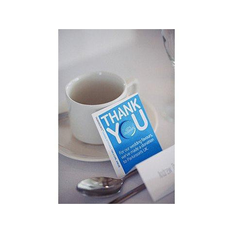 Parkinson's UK wedding favours and backing cards (10 pack) - Parkinson's shop