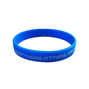 Parkinson's UK cyan blue logo wristband-Parkinson's shop