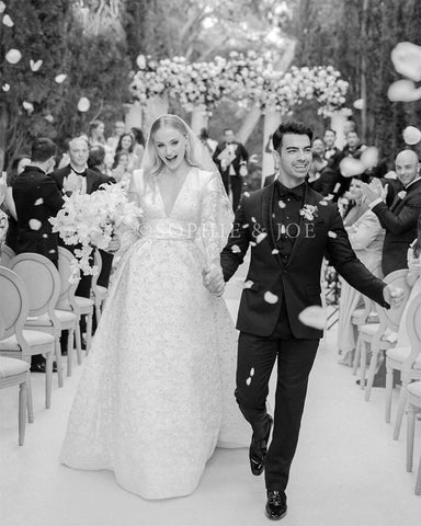 Sophie Turner's Louis Vuitton custom designed wedding dress