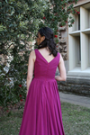V-neck Chiffon Bridesmaid Gown