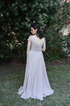 Off Shoulder Chiffon Bridesmaids Dress