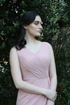 V-neck Chiffon Bridesmaids Dress