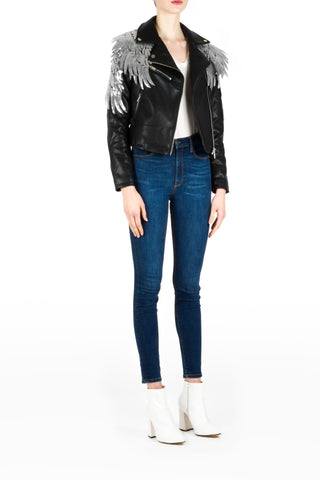 LEATHER BLAZER LILA