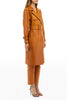 LEATHER TRENCH CAMEL