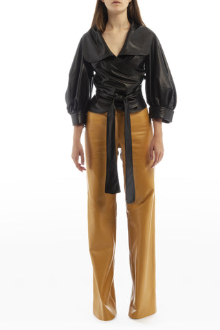LEATHER PANTS LILA
