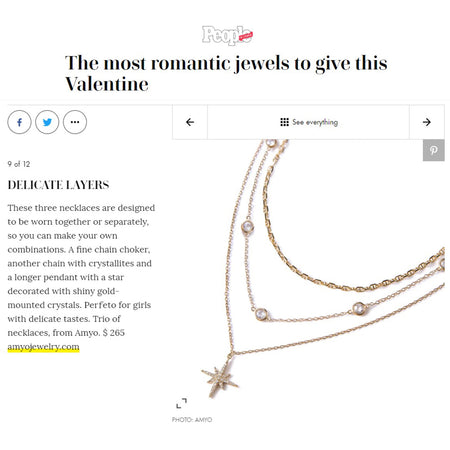 People The Most Romantic Jewels to Give This Valentine Layered Necklaces