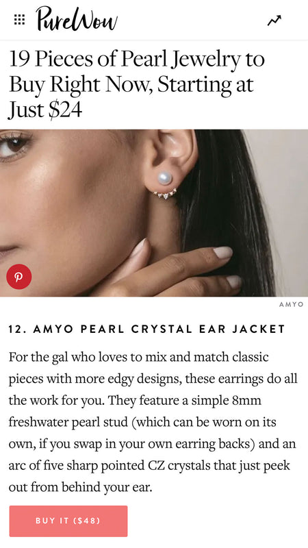 Purewow: Pearl Jewelry at Affordable Prices Pearl Ear Jacket