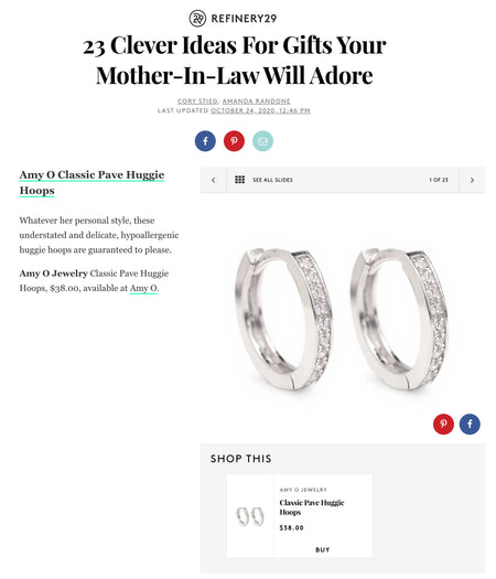 Refinery29: Clever Gifts for Mother in Law Huggie Hoop Earrings