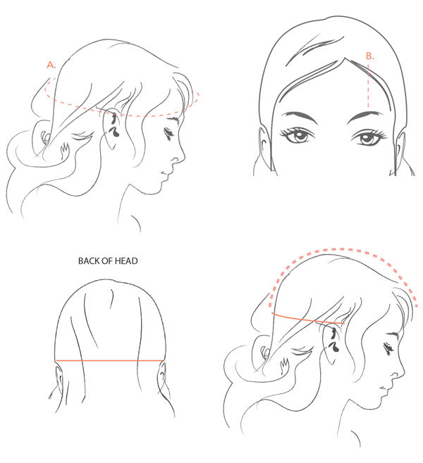How to measure for a custom headpiece