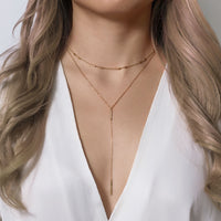 Deux Choker and Bar Lariat Duo