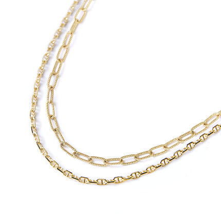 Link Chain Marina Duo Necklace