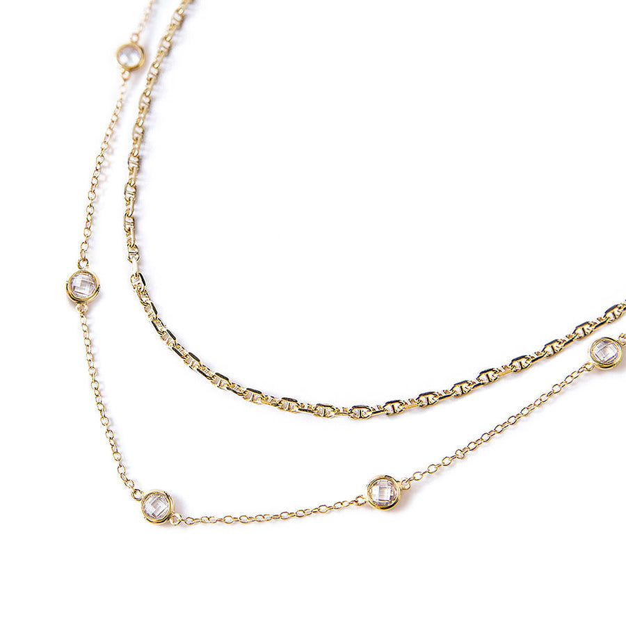 Marina Crystal Chain Layered Duo