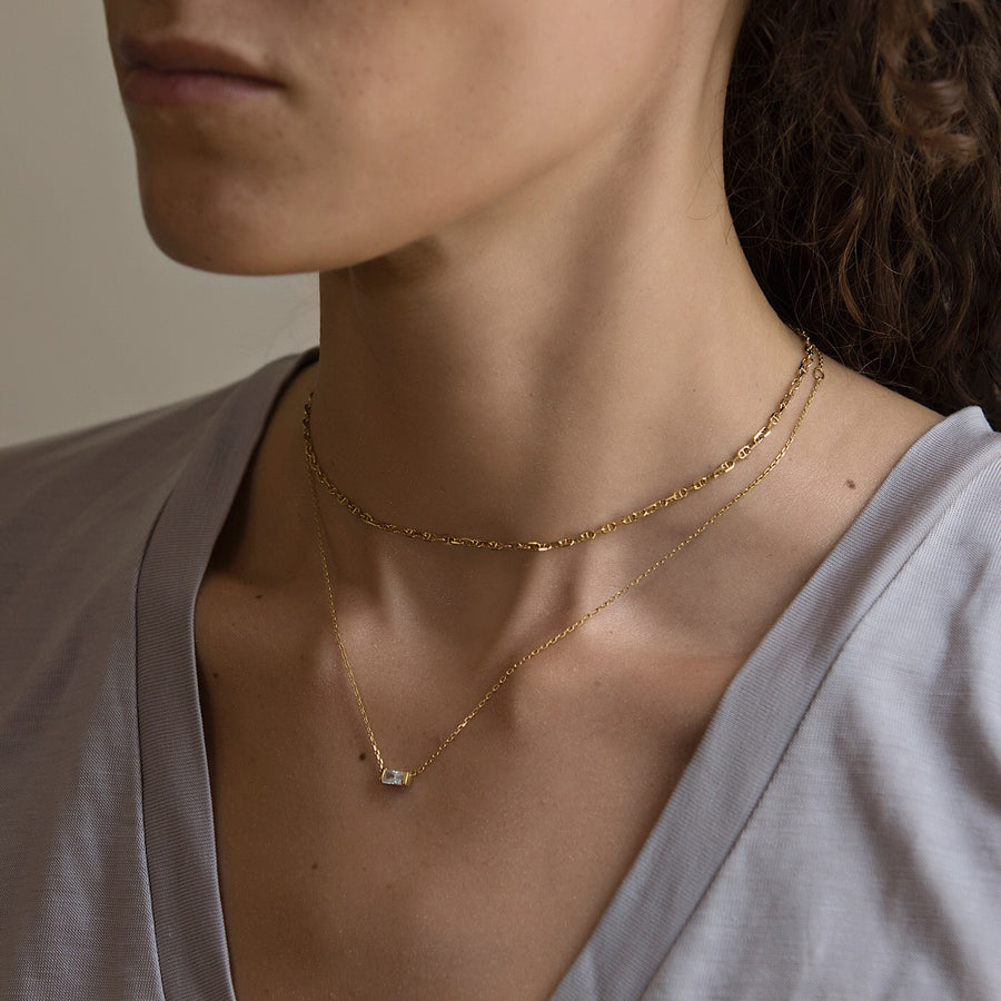 Baguette Necklace