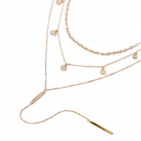 Marina Dangle Crystal Lariat Trio