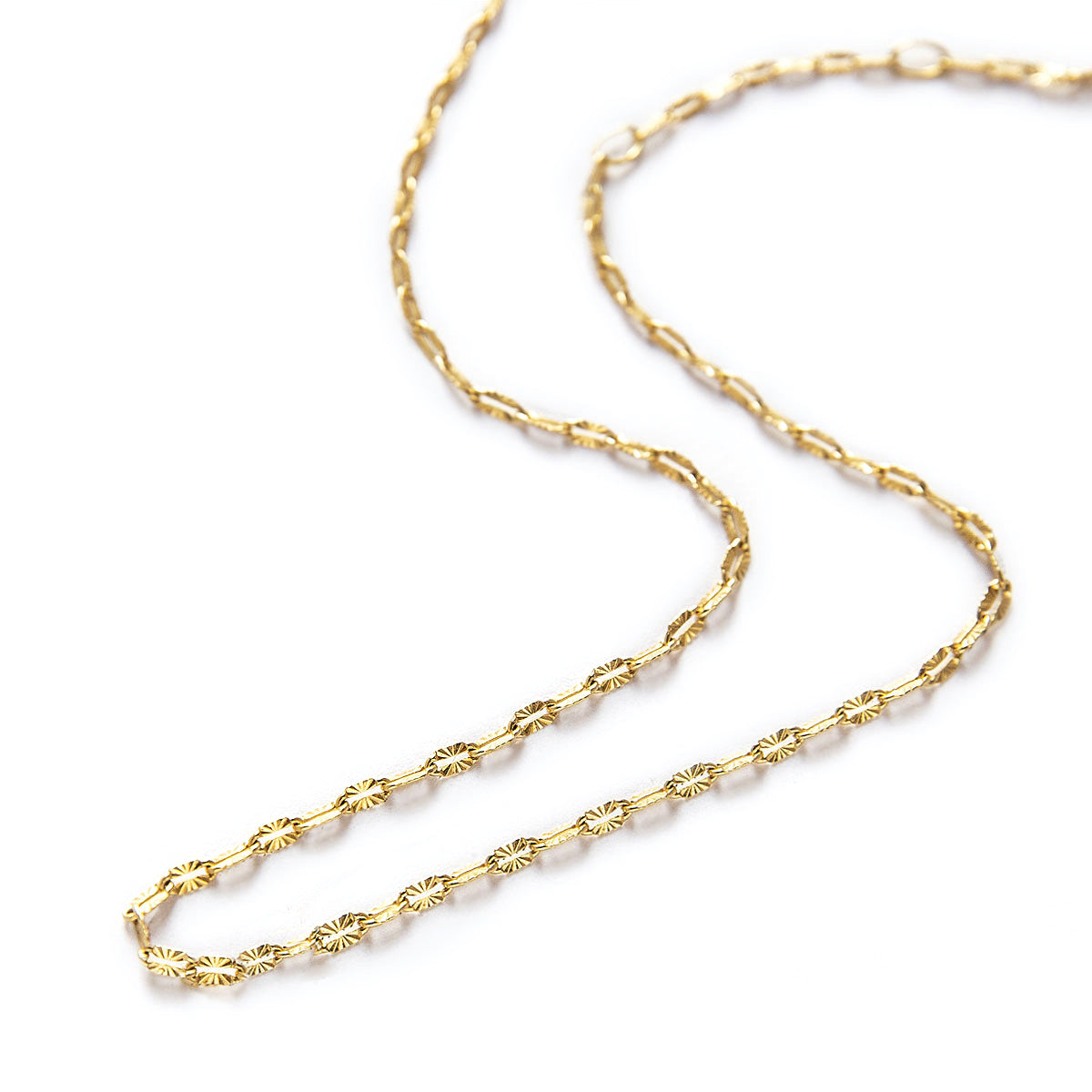 Textured Gold Chain Choker