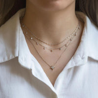 caption: Shown with Diamond Cut lace chain choker